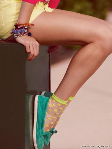 Barevné ponožky do tenisek i balerínek