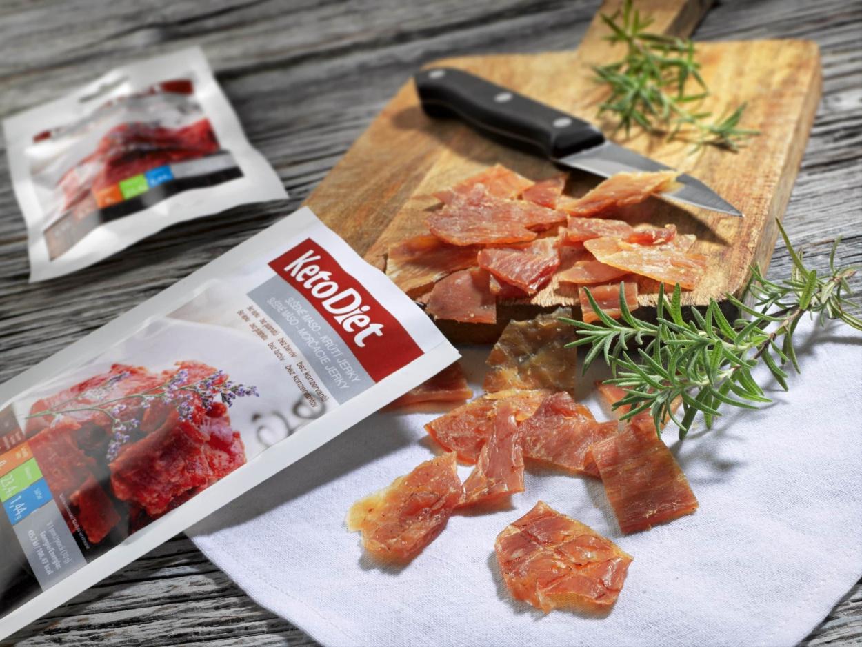Keto dieta – Sušené maso krůtí jerky – KetoDiet.cz